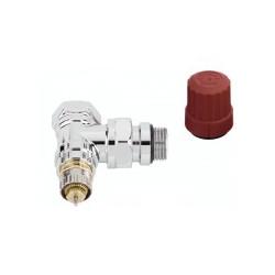 Corps de robinet équerre chromé à préréglage RA-NCX de marque DANFOSS , référence: B636000