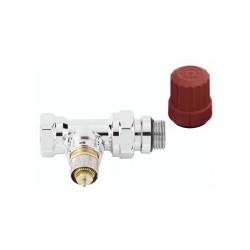 Corps de robinet droit chromé à préréglage RA-NCX de marque DANFOSS , référence: B636100