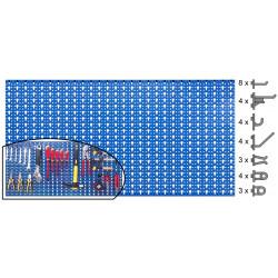 Panneau mural perforé et accessoires 1mx0,50 OUTILFRANCE de marque OUTIFRANCE , référence: B675100