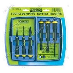 Coffret 6pièces ciseaux et bédanes de marque OUTIFRANCE , référence: B703700