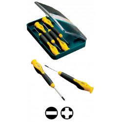Coffret 6 tournevis de précision pro de marque OUTIFRANCE , référence: B716100