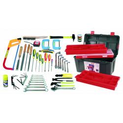 Caisse à outils 55 pièces de marque OUTIFRANCE , référence: B726500