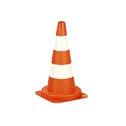 Cone signalisation blanc-rouge 50cm de marque OUTIFRANCE , référence: B731800