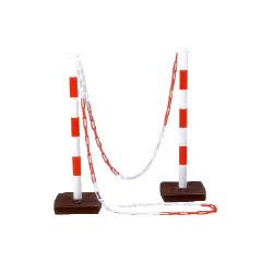 Poteau signalisation pour chaîne plastique s/socle de marque OUTIFRANCE , référence: B732000