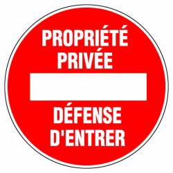 """Panneau signalisation """"Proprieté privée"""" de marque OUTIFRANCE , référence: B732300"""