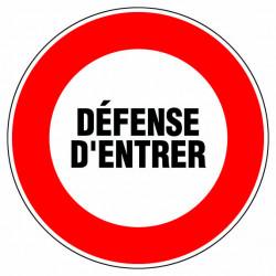 """Panneau signalisation """"Défense d'entrer"""" de marque OUTIFRANCE , référence: B732500"""