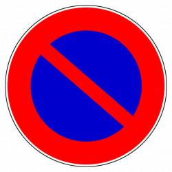 """Panneau signalisation """"Défense de stationner"""" de marque OUTIFRANCE , référence: B732900"""