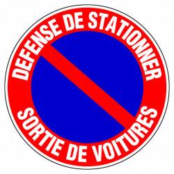"""Panneau signalisation """"Defense de stationner sortie de voitures"""" de marque OUTIFRANCE , référence: B733000"""