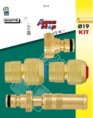 Kit d'arrosage 4 pièces pour tuyau Ø19
