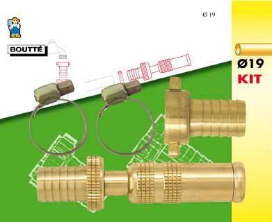 Kit d'arrosage 3 pièces pour tuyau Ø19
