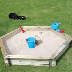 Bac à sable HEXAGONAL + COUVERCLE de marque Jardipolys, référence: J946700