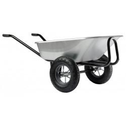 Brouette Expert Twin 150 L galva roues gonflées de marque HAEMMERLIN, référence: J1055600