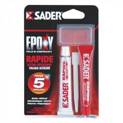 Colle époxy rapide seringue 25ml de marque Sader, référence: B2436400