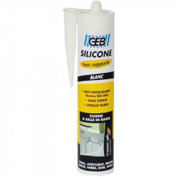 Mastic silicone surface synthétique et émaillée - Blanc de marque GEB, référence: B2589200