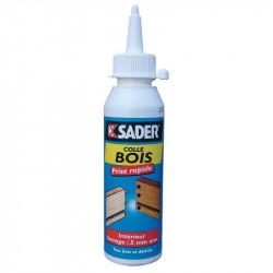 Colle à bois prise rapide - biberon 250 g de marque Sader, référence: B3509300