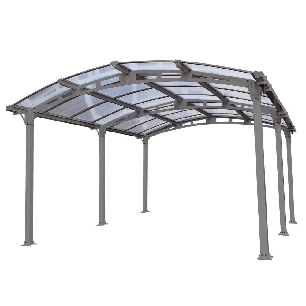 Carport alu - AMILCAR 5000 - 18,17 M² - GRIS