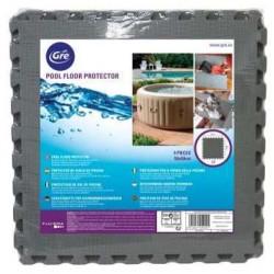 Tapis de sol en dalles puzzle 50 x 50 cm gris anthracite, ep 8mm de marque GRE POOLS, référence: J4964500