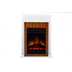 Cheminée décorative Bellini brown + kit bûches - 750/1500W - Optiflame de marque GLEN DIMPLEX , référence: B4847500