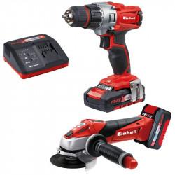 Kit outils TE-TK 18 Li Kit (CD+AG) de marque EINHELL , référence: B4994400