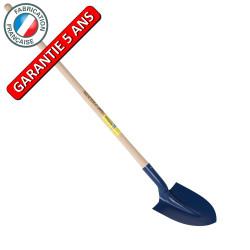 Pelle à terre de tranchée 21  emmanchée, outil à main pour le maçon et le BTP de marque PERRIN  , référence: B3812100