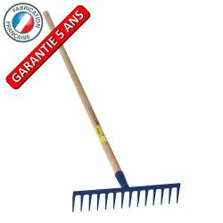 Râteau 14 dents droites soudées manche 1,5m, outil trempé haute résistance, jardin,potager de marque PERRIN  , référence: J3858600