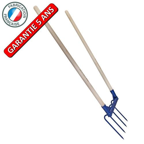 Aerogrif' 4 dents 2 manches 1,10 m, type Grelinette, outil de jardinage biologique - PERRIN