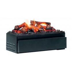 Foyer encastrable JUNEAU noir + kit bûches à LED - Optimyst de marque GLEN DIMPLEX , référence: B5005400