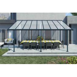 Toit-terrasse alu & polycarbonate - 3x5 m de marque CHALET & JARDIN, référence: J5010000