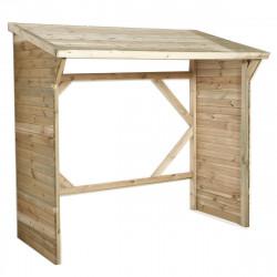 Abri à bûches en bois - 3 stères de marque Forest-style, référence: J5012000