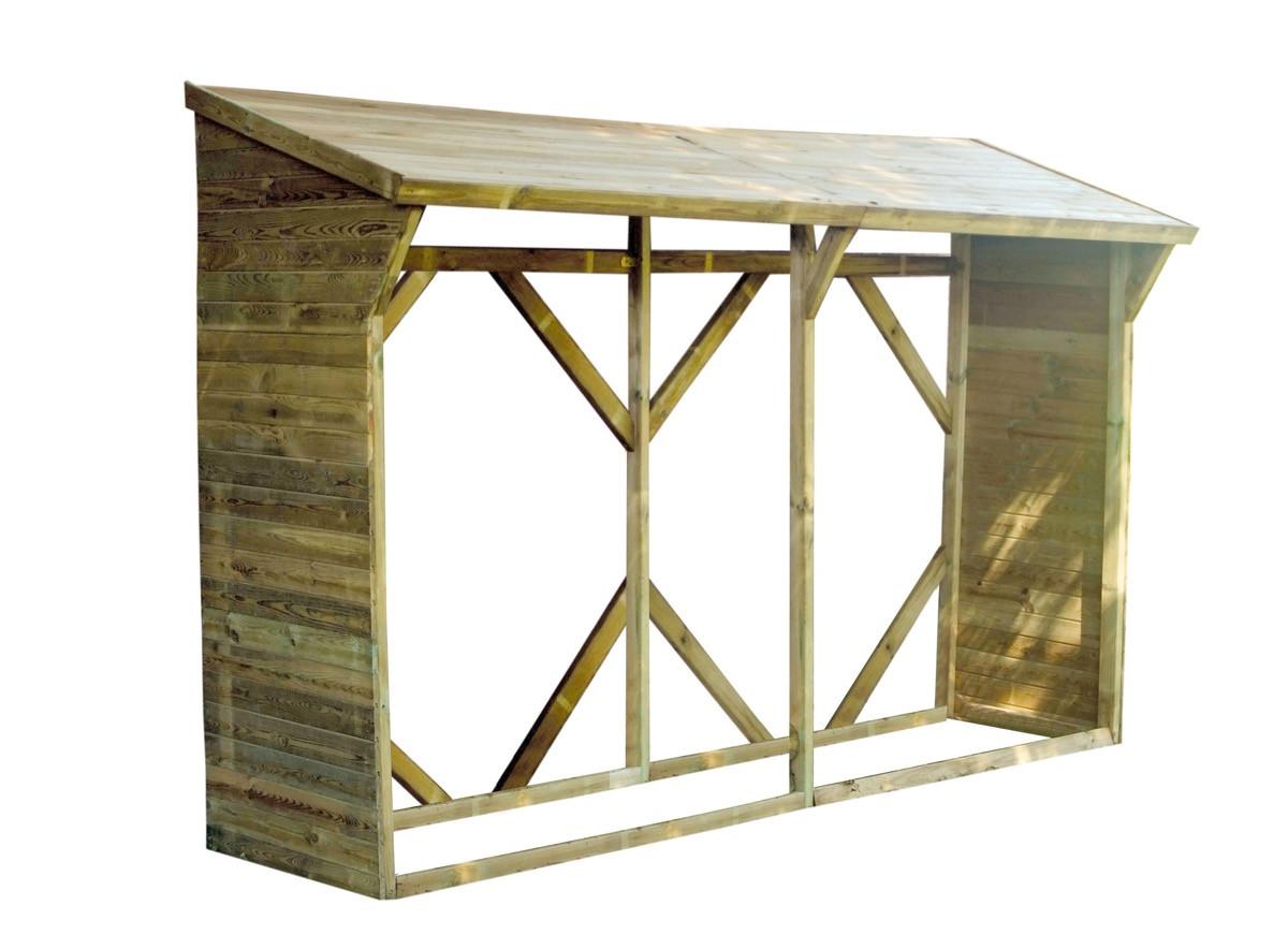 Abri à bûches en bois - 4,4 stères