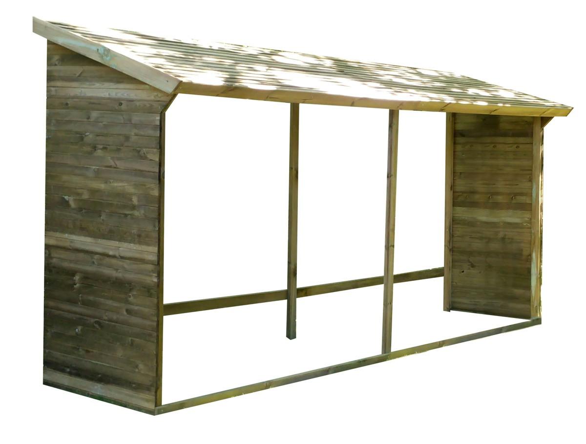 Abri à bûches en bois grand format - 10 stères