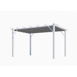 Pergola 100% aluminium toile épaisse de 12 m2 - structure blanch perle de marque HABRITA, référence: J5014500