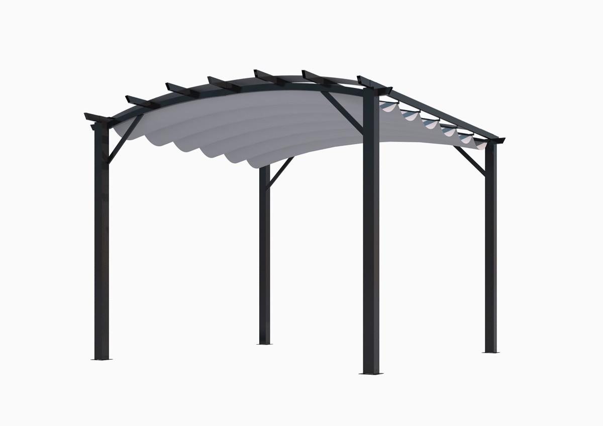 Pergola structure mixte 11,22 m2 - toile couleur grise
