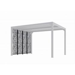 4 panneaux moucharabieh en acier pour pergola PER 3630 BI de marque HABRITA, référence: J5016300