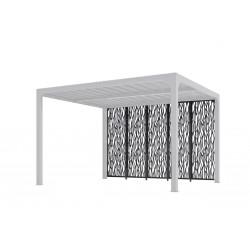 5 panneaux moucharabieh en acier pour pergola PER 3630 BI de marque HABRITA, référence: J5016400