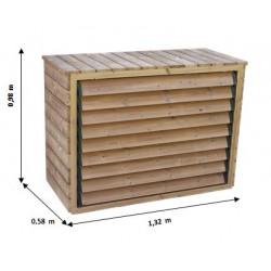 Cache climatiseur extérieur en bois de marque HABRITA, référence: J5020200