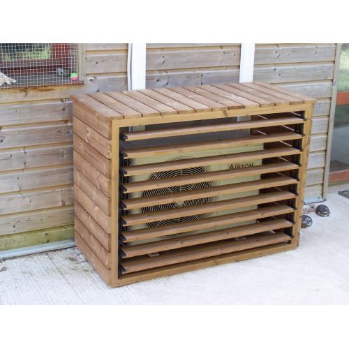 Habrita Cache climatiseur extérieur en bois