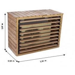 Cache climatiseur extérieur en bois grand format de marque HABRITA, référence: J5020300