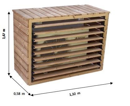 Cache climatiseur extérieur en bois grand format