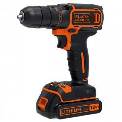 BDCDC18K-QW Perceuse visseuse sans fil - 18V - 1,5 Ah - 1 batterie - Chargeur inclus - Livrée en coffret - Compacte et légère de marque Black+Decker, référence: B5037800