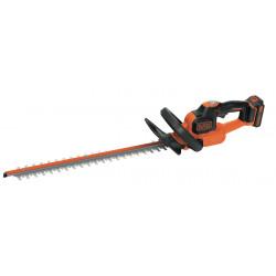 GTC18502PC-QW Taille-haies sans fil - 50 cm - 18 V - 2 Ah - Ecartement : 18 mm - Technologie anti-blocage de lame de marque Black+Decker, référence: J5038100