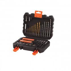 A7188-XJ - Coffret de perçage et vissage - 50 pièces de marque Black+Decker, référence: B5039400
