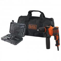BEH710SA32-QS Perceuse à percussion filaire - 710 W - 32 accessoires - Livrée en sac de rangement de marque Black+Decker, référence: B5040300