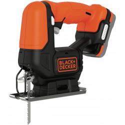BDCJS12S1-QW Scie sauteuse sans fil - 12 V - 1,5 Ah - 1 batterie - 1 lame pour le bois - Livrée en sac de rangement de marque Black+Decker, référence: B5040800