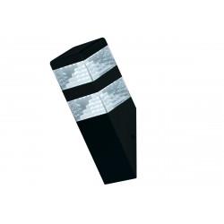 Applique pyramide noire mat - 900 lumens - Blanc 4000K de marque LUMIHOME , référence: J5064700