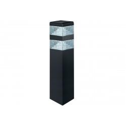 Borne pyramide noir mat 40 cm - 900 lumens - Blanc 4000K de marque LUMIHOME , référence: J5064800