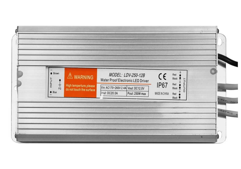 Transformateur 24V - 250W - IP67