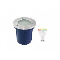 Spot rond encastrable compatible avec les ampoules connectées de marque LUMIHOME , référence: J5074800