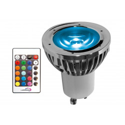 Ampoule LED GU10 + télécommande multifonction - RGB multicouleur de marque LUMIHOME , référence: B5077000