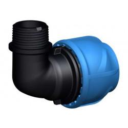 """Coude de transition 90° - iJoint - Ø 20 mm filetage mâle 1/2"""" de marque GF Piping Systems, référence: J5135700"""